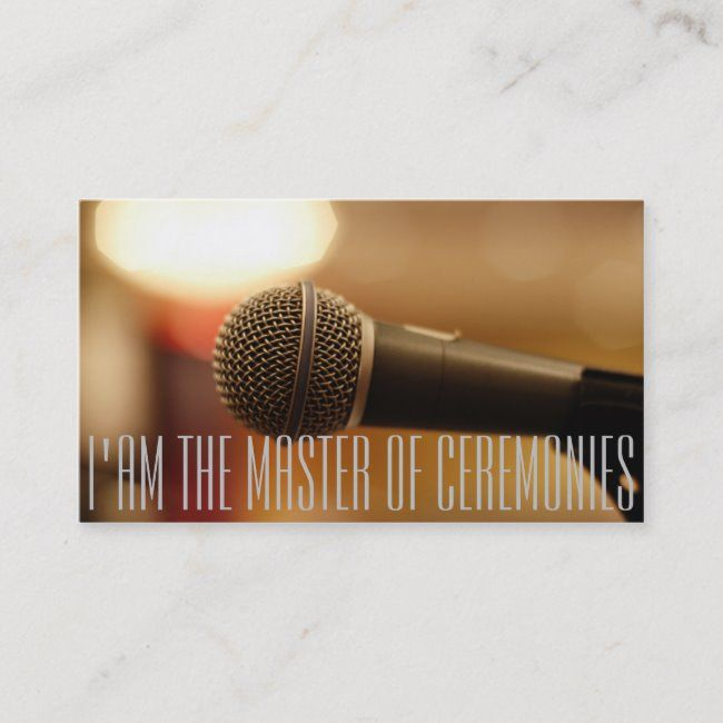 Microphone of MC (Master of Ceremonies) Business Card #microphone #mic #emcee #master #of #BusinessCard