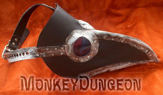 Handmade Plague Doctor mask metal industrial steampunk look color variations