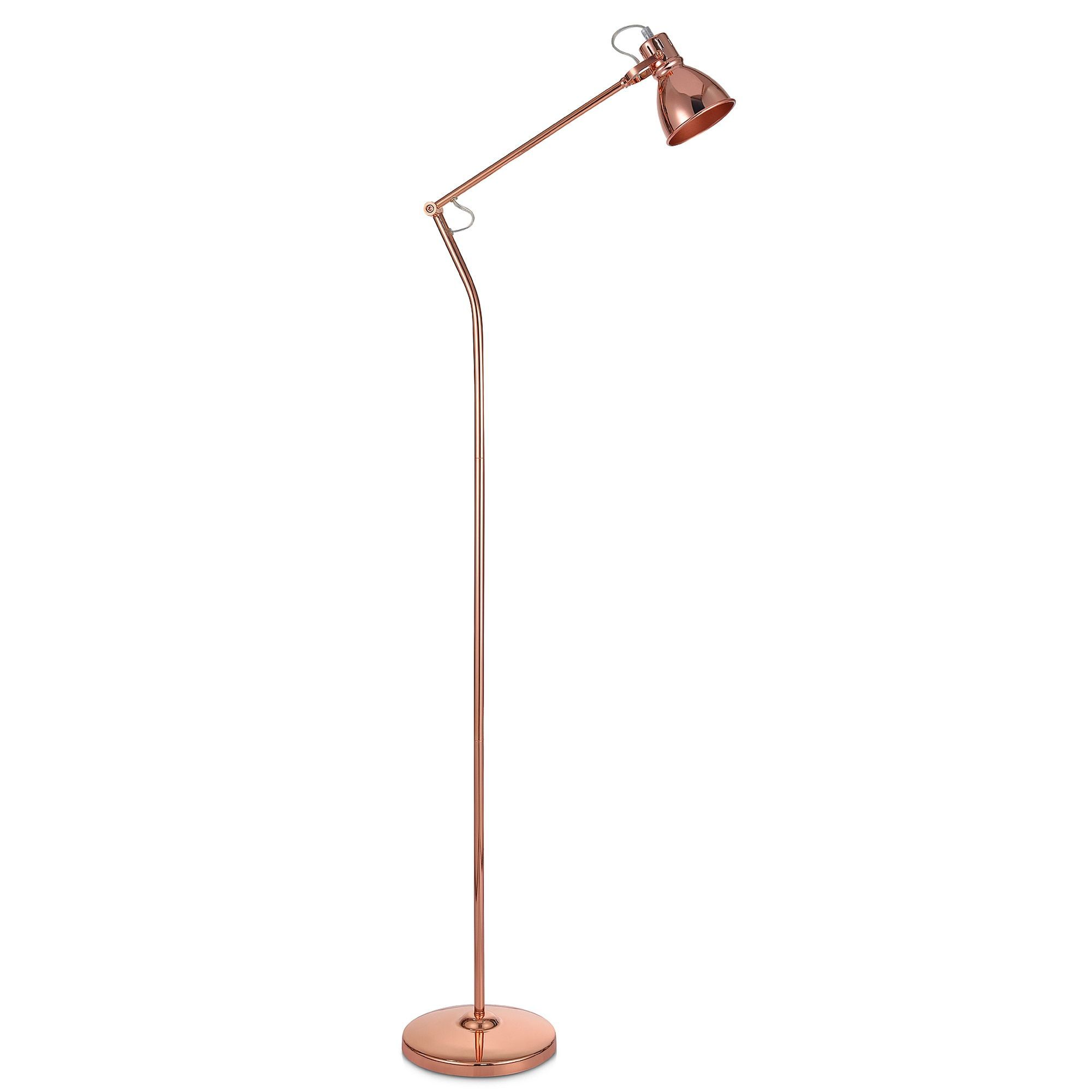 Gold Floor Reading Lamp Versanora Passione Rose Gold Finish Floor Lamp House Room Ideas