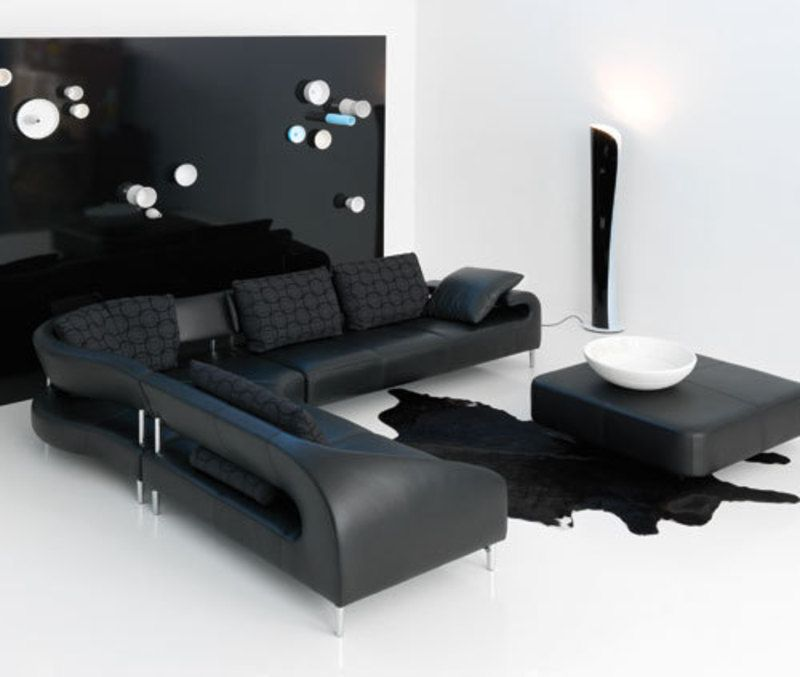 Latest sofa designs for living room sofas pinterest for Black living room furniture sets