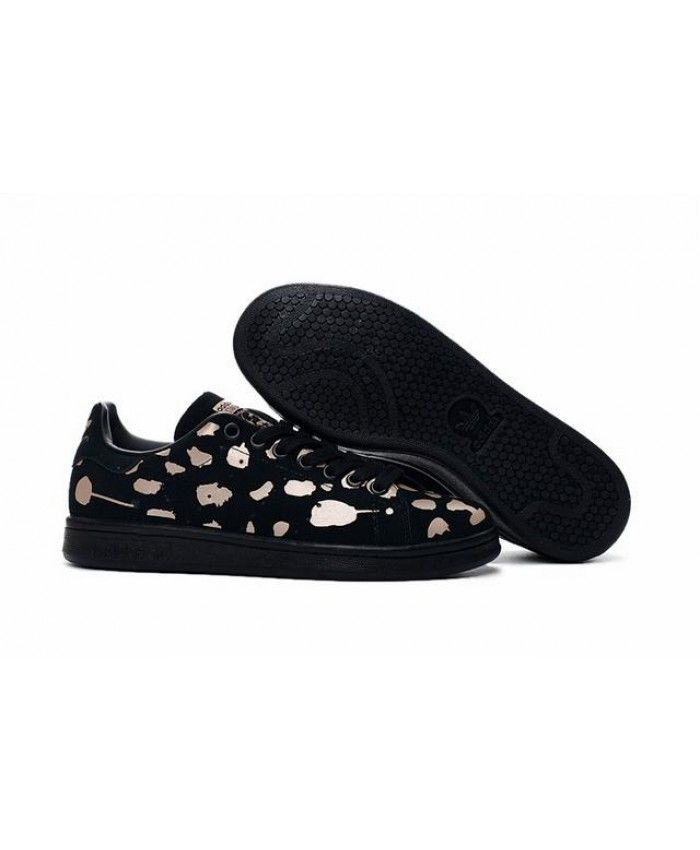 more photos 92113 3ab06 Adidas Stan Smith Suede Black Rose Gold Trainers | rose gold ...