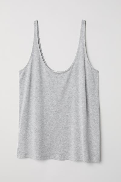 671c548da2bd6 Jersey vest top - Light grey marl - Ladies