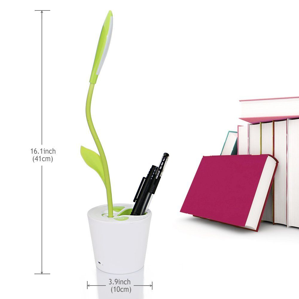 Amazon Com Iegrow Flexible Usb Touch Led Desk Lamp With 3 Level Dimmer And Decor Plant Pencil