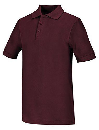 Classroom Men's Short Sleeve Pique Polo, Burgundy, XX-Large #manroom