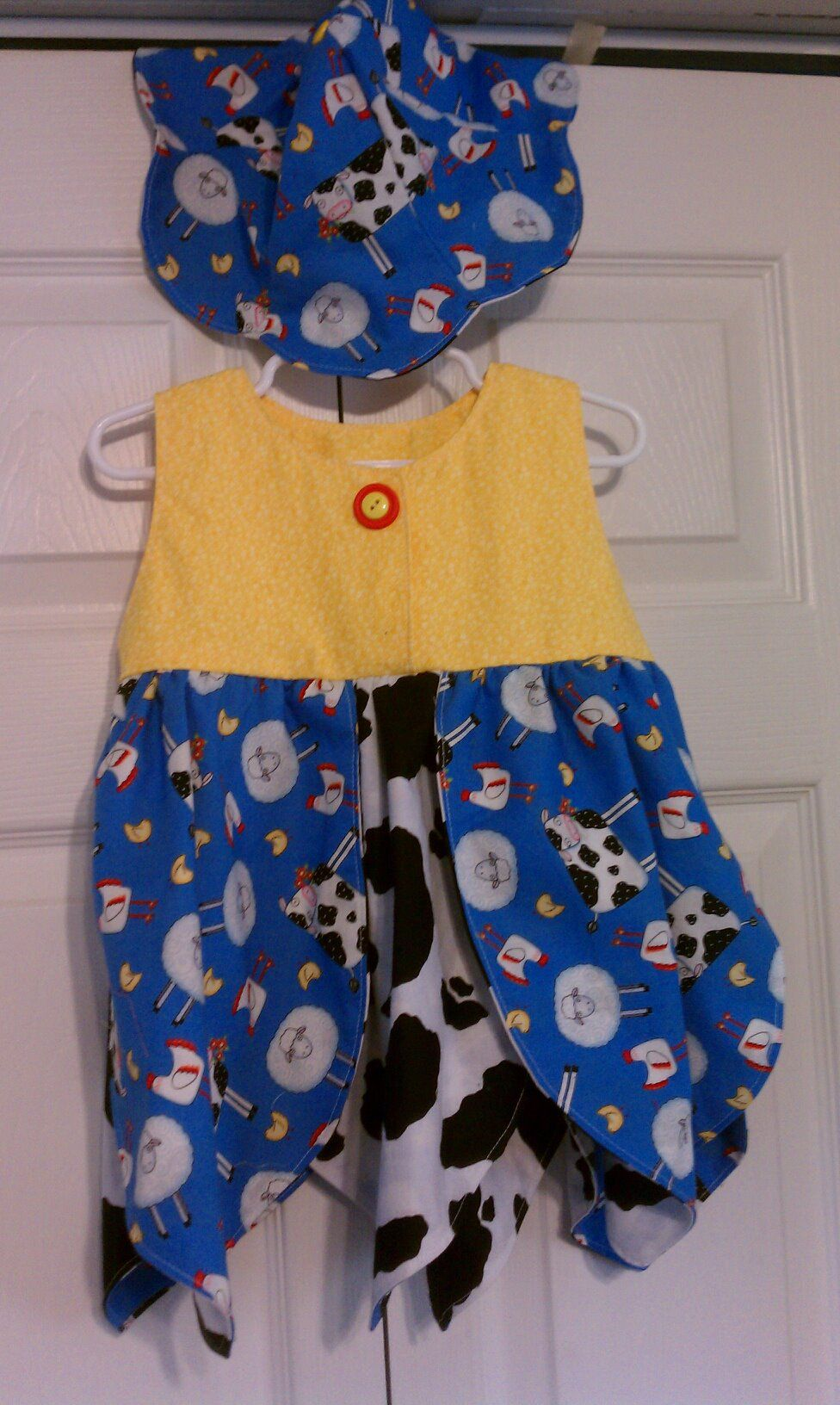 Size 2T Tulip Dress with hat - SOLD