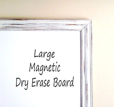 Magnetic Dry Erase Board Framed Whiteboard Large Whiteboards Decorative Farmhouse Wall Decor Weathered Wood