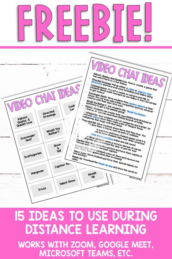 Fun Video Chat Activities to Try During Distance Learning
