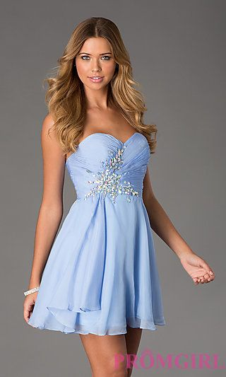 Periwinkle Strapless Dress