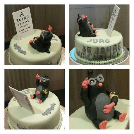 Maulwurf Beim Optiker Motivtorten Kuchen Backen