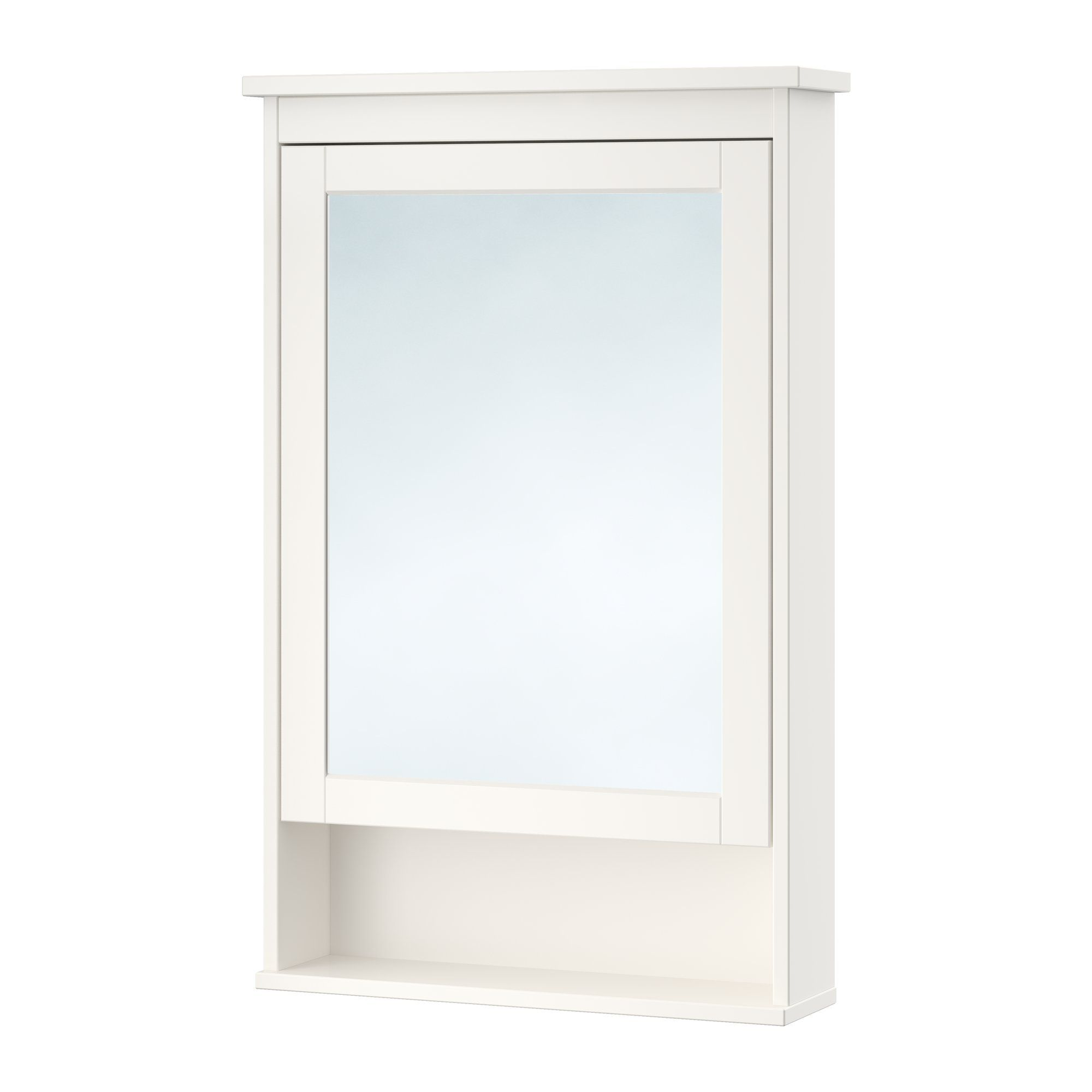 HEMNES Mirror cabinet with 1 door, white | Mirror cabinets, HEMNES ...