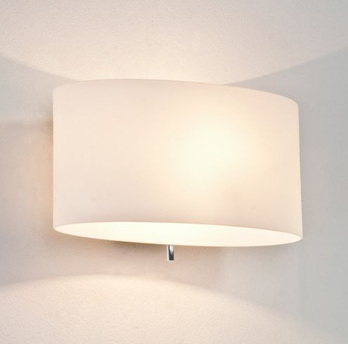 Tokyo 0569 Switched Wall Light White Opal Gl Diffuser