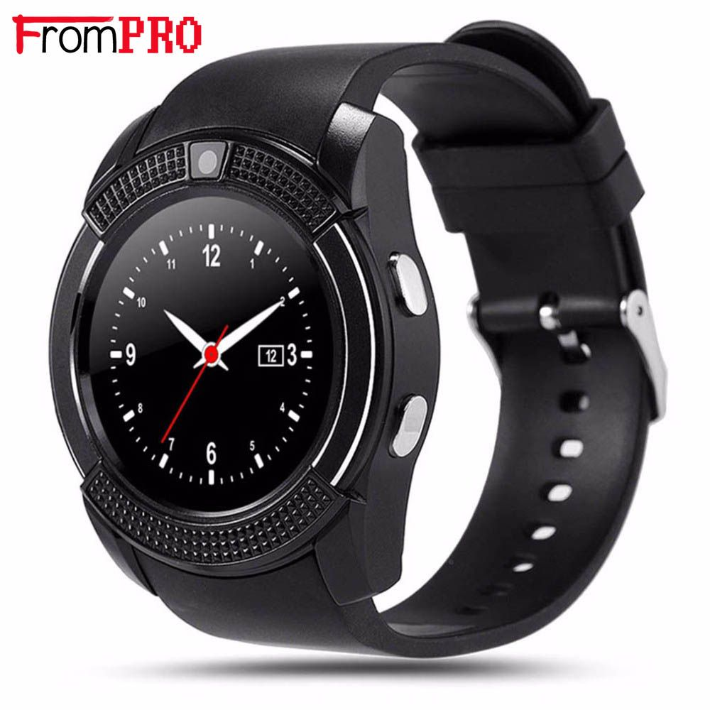 77a14631e43 FROMPRO Sports Round Smart Watch V8 Full Screen Bluetooth Smartwatch  Support TF SIM Card Anti-