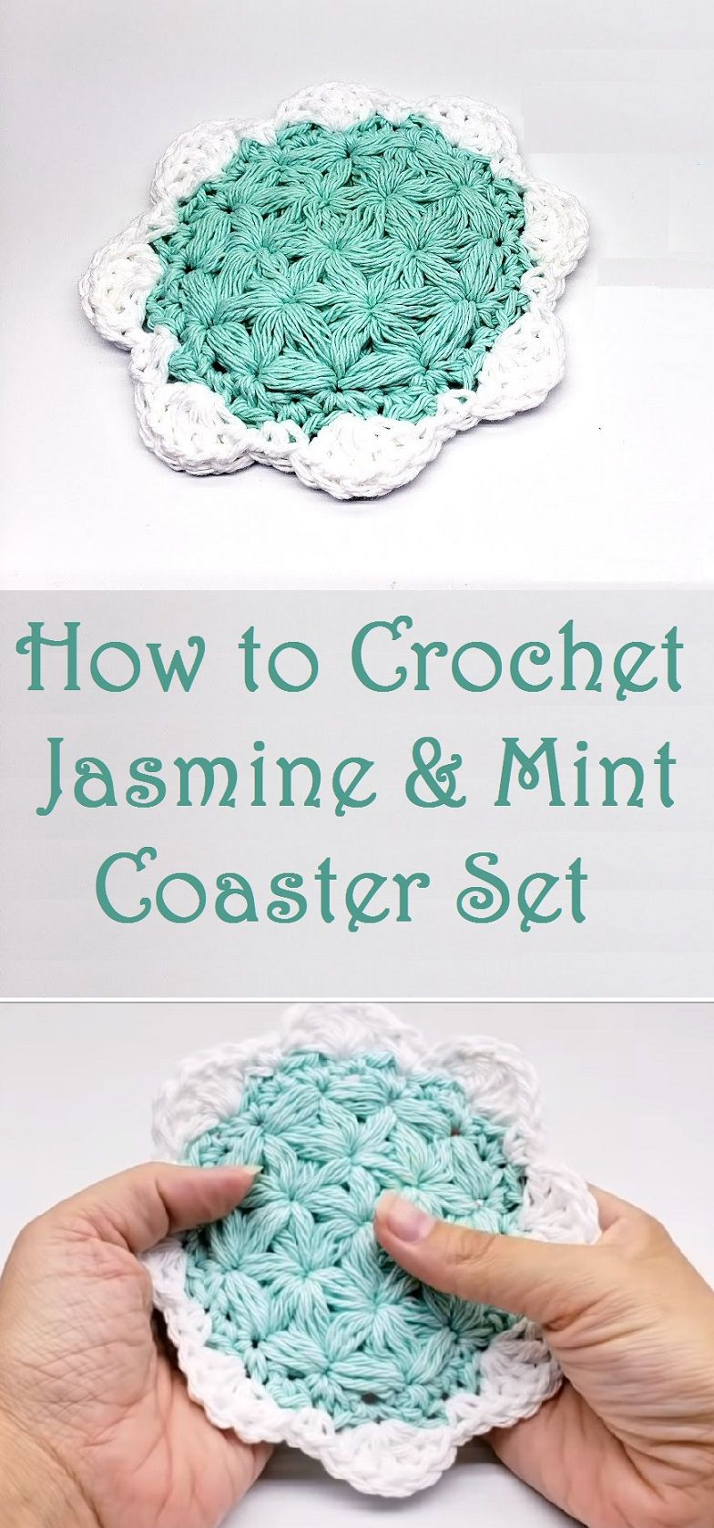 Crochet Jasmine and Mint Coaster Set | Maggie\'s Crochet - All About ...
