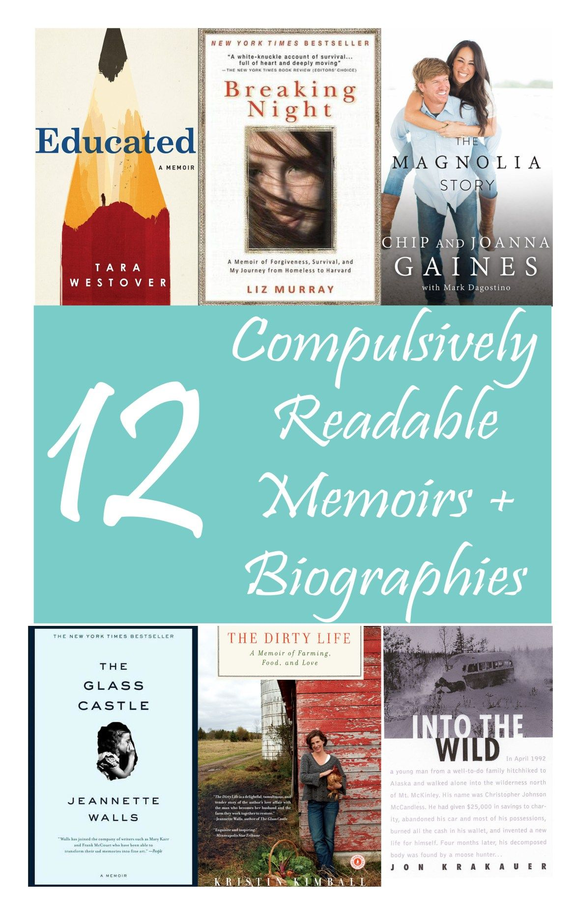 12 Compulsively Readable Memoirs + Biographies // If you're looking for  tales of real life that are as readable as many novels, check out these 12  picks!