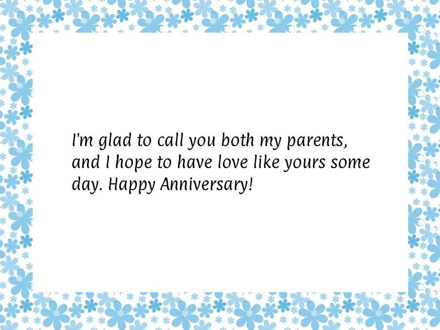Happy wedding anniversary quotes for parents is your