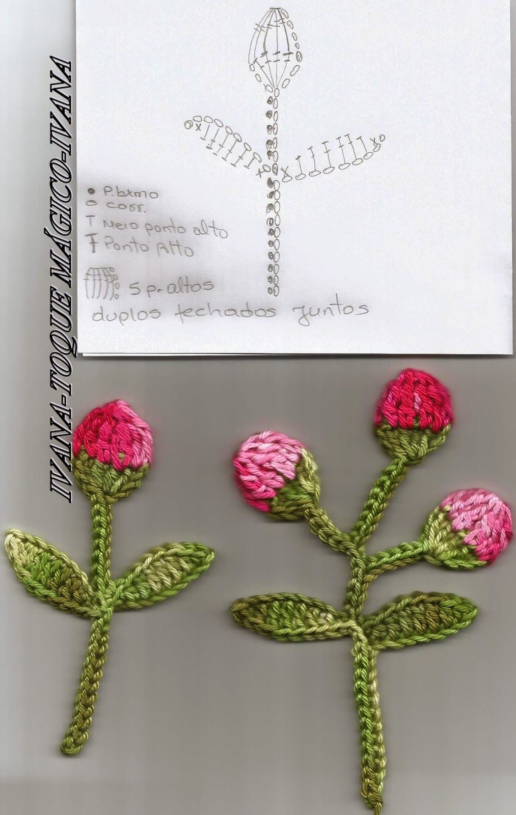 ***TOQUE MÁGICO***: MINHA FLOR EM BOTÃO. #crochetedflowers