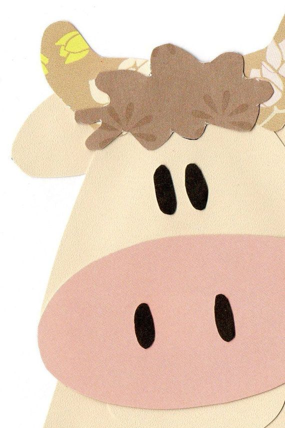 Applique Template Farm Animal Cow by ForgetMeNotByMarie on Etsy