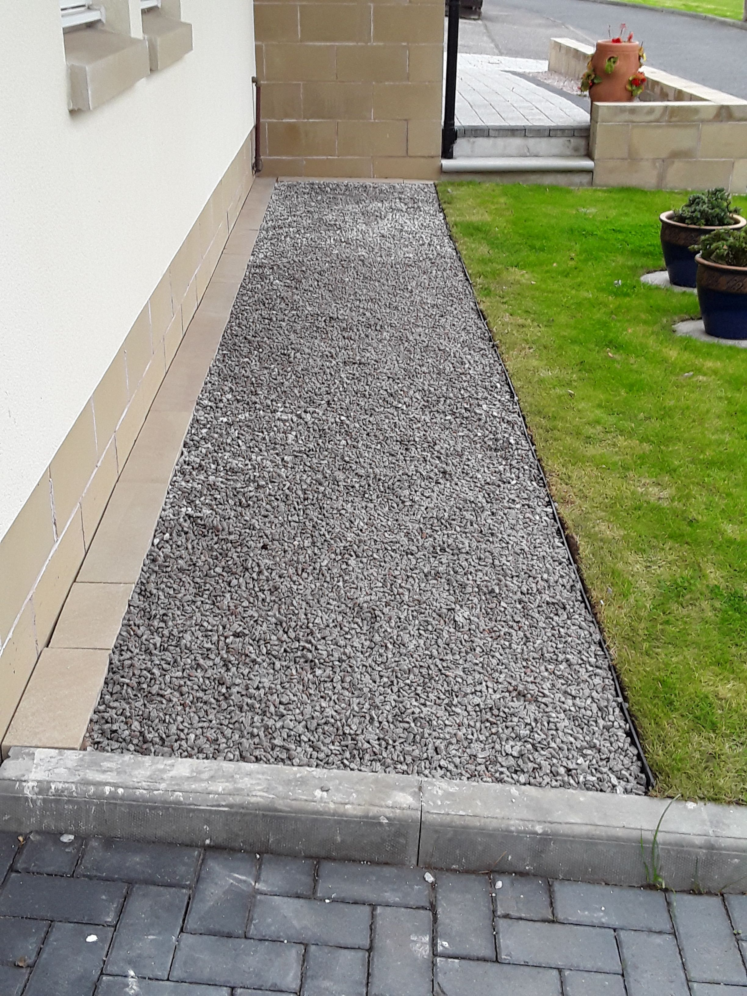 Geoborder edging used in the front garden to create a decorative
