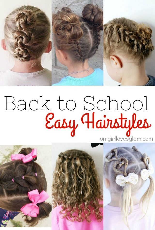 Hairstyles For School Easy Back To School Hairstyles  School Hairstyles Simple Hairstyles And
