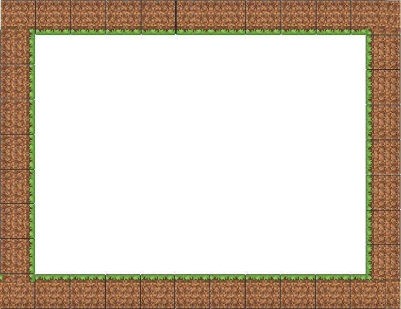 Minecraft Grass Border