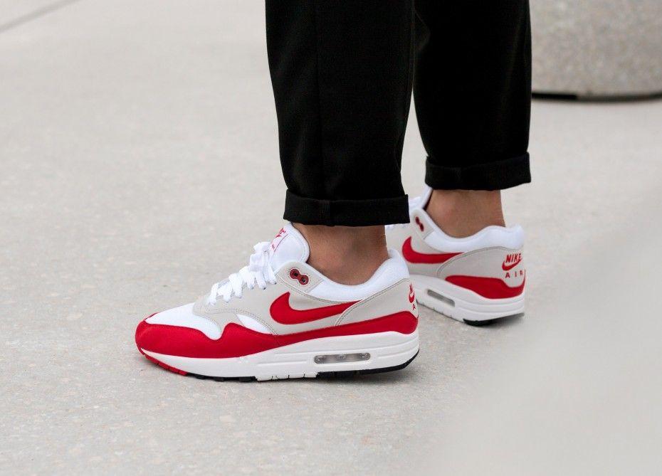 finest selection 70822 ecc1c Nike    Nike Air Max 1  Anniversary  (White   University Red -