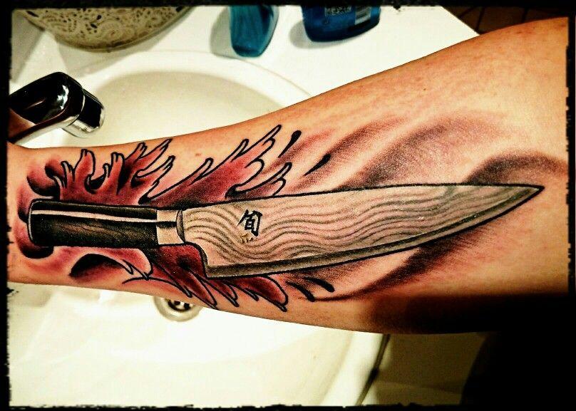 kai chef 39 s knife tattoo tattoo pinterest knife tattoo tattoo and tattos. Black Bedroom Furniture Sets. Home Design Ideas