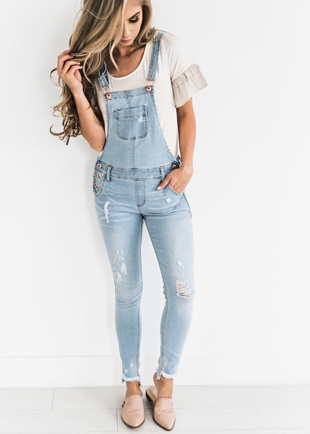 d4001f048321 Light Washed Overalls