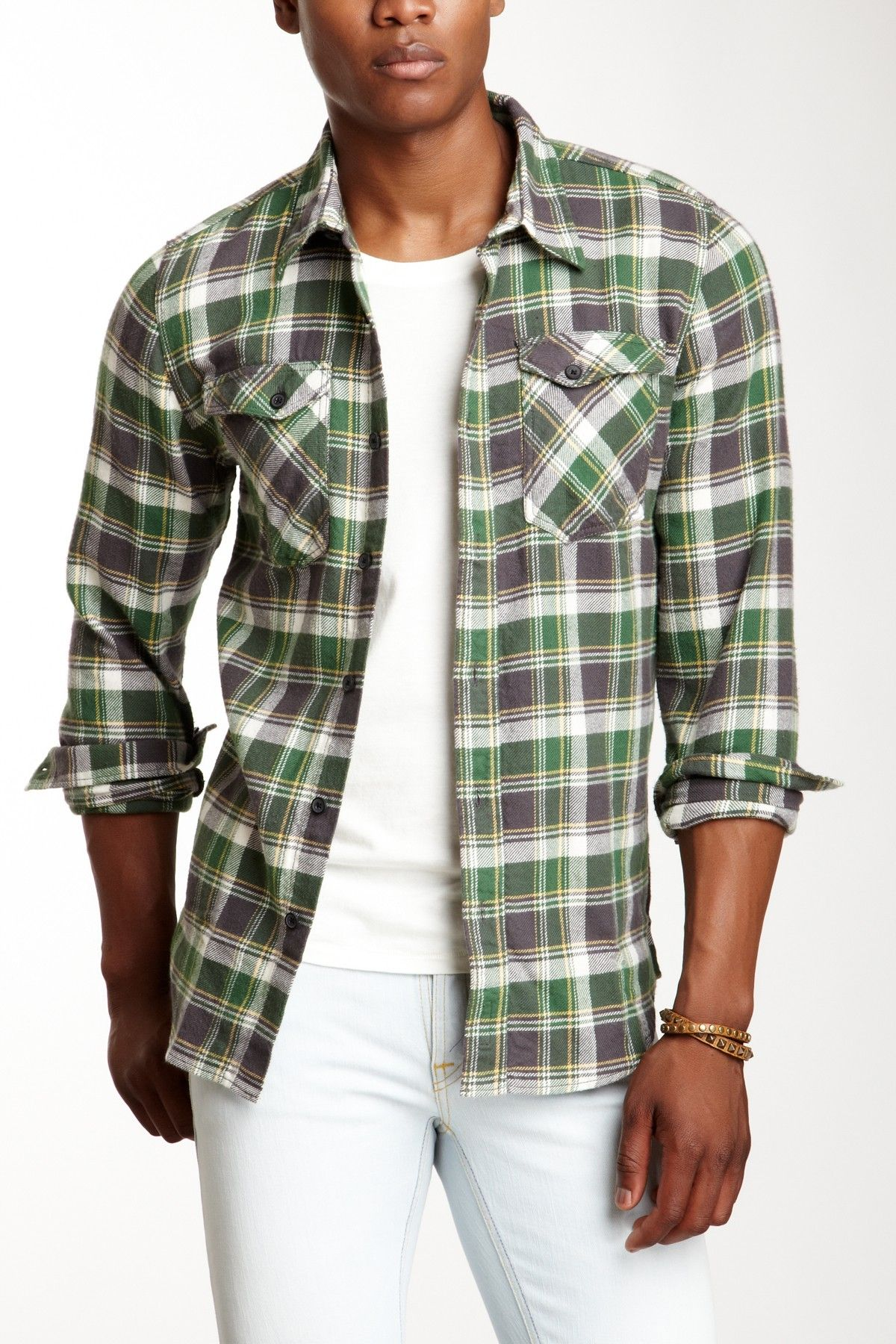 Flannel over shirt  Nudie Jeans Plaid Flannel Shirt on HauteLook  Mens Fashion For