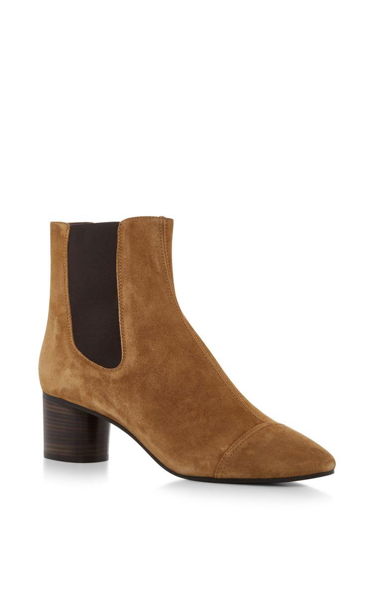 05e7f8b2633297 ISABEL MARANT Danae Velvet Ankle Boot.  isabelmarant  shoes  boots Kurze Braune  Stiefel