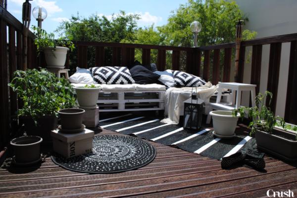 Aménagement avec du mobilier en palettes | Jardins tropicaux ...