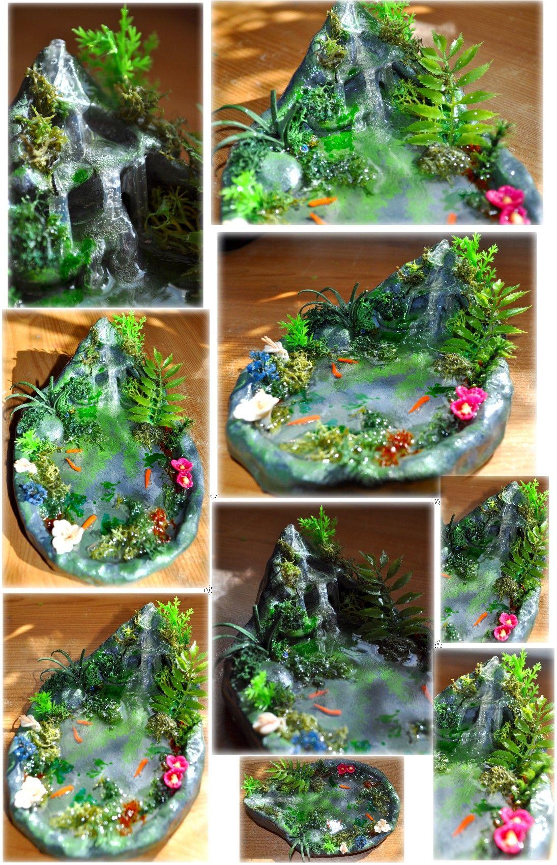 Glancing Waterfall Fairy Garden Waterfall Castle Ooak Faery Waterfall Pond By On Ooak Faery Waterfall Pond By On Fairy Garden Ideas