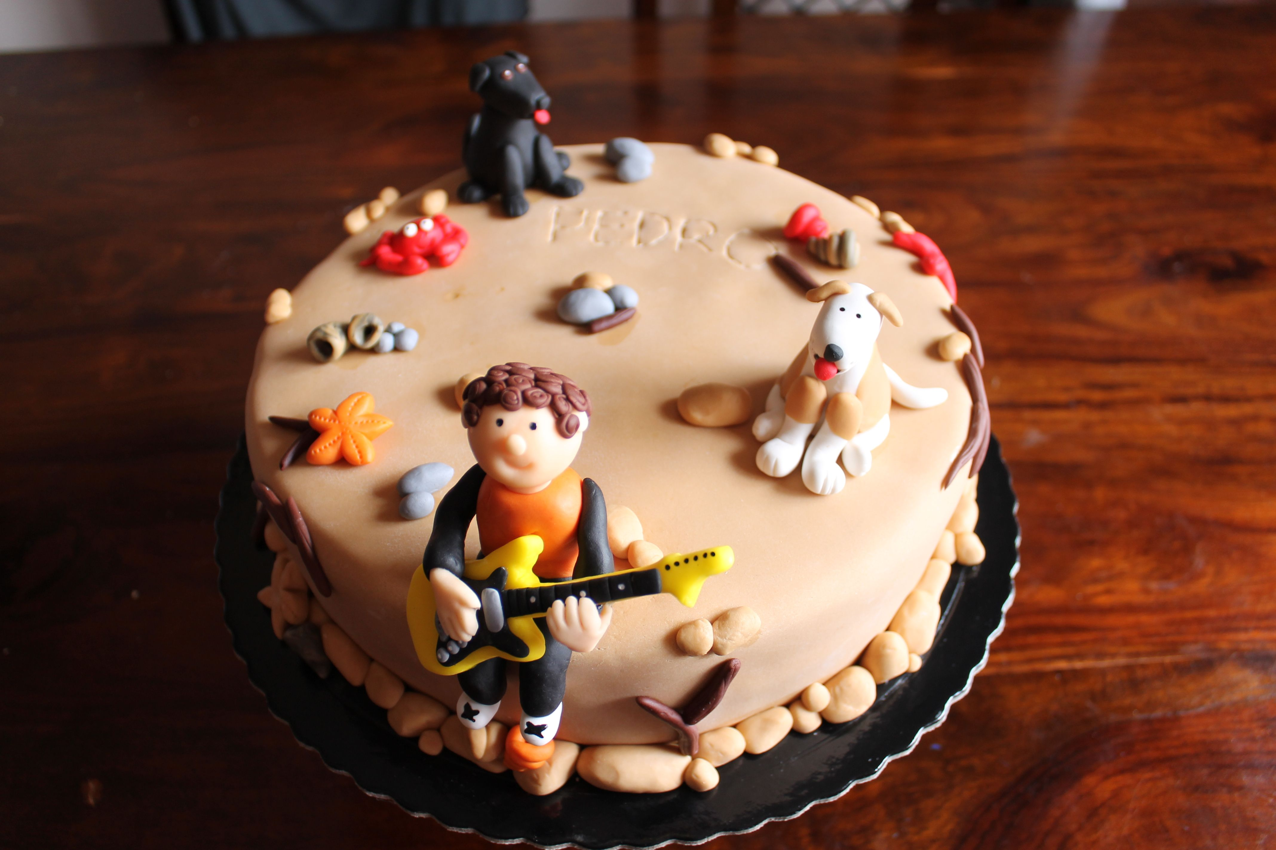Beach birthday cake for a 12 years old boy My cakes Pinterest