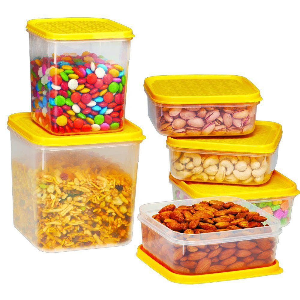 Ruchi Storewel Set Container, 6Pieces, Yellow At Rs.227