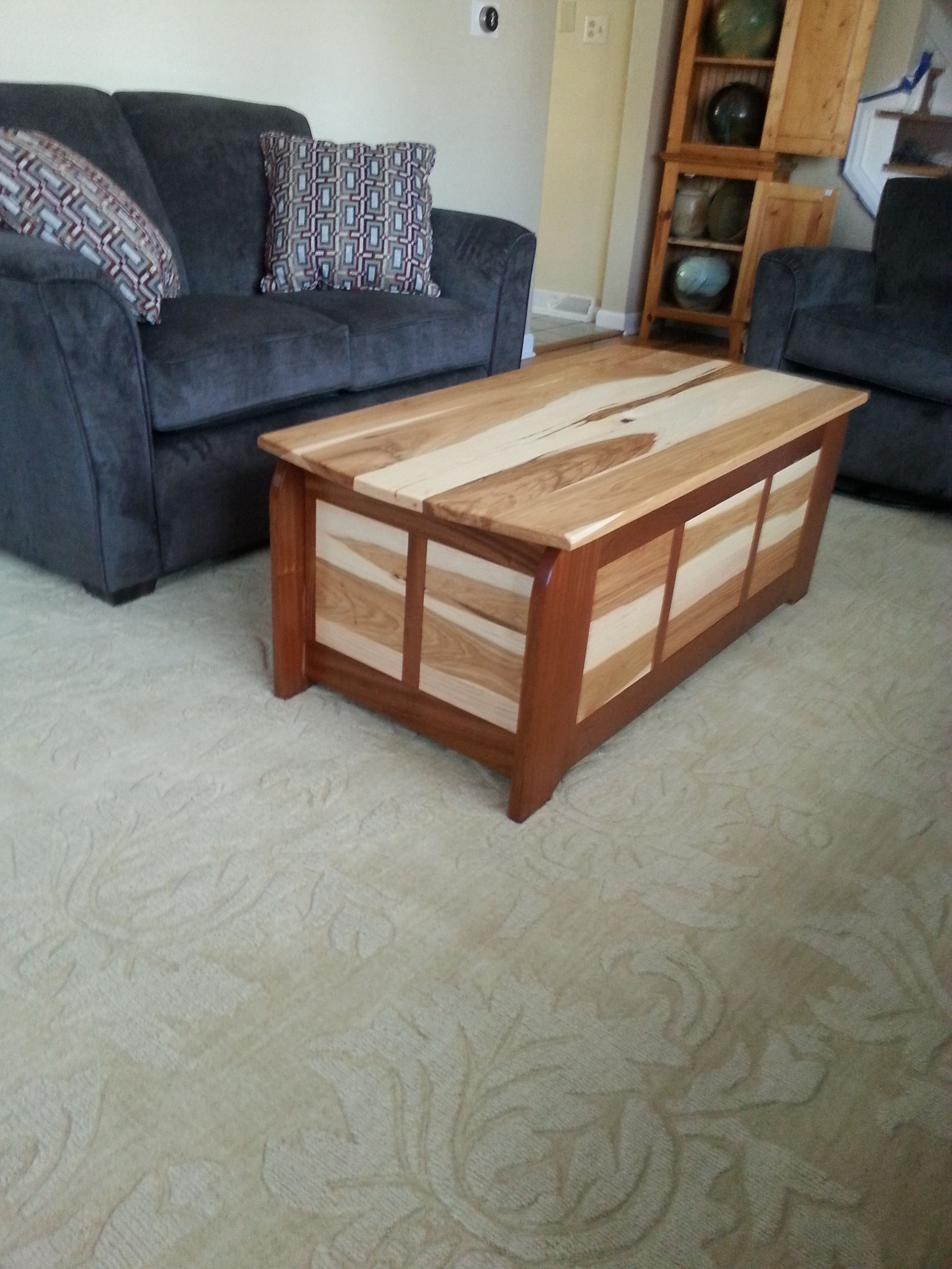 Custom coffee table built with the Kreg Jig® K5; the table frame is ...