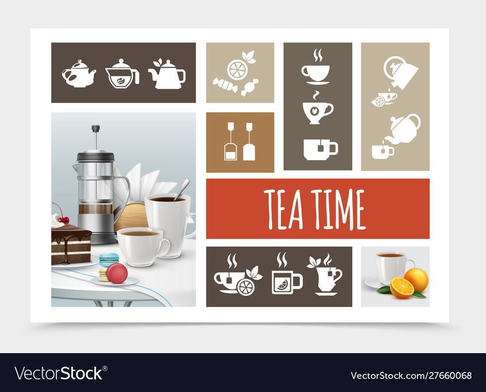 Tea Party Elements Composition Royalty Free Vector Image Ad Elements Composition Tea Party Vector Free Business Advertising Design Home Decor Decals