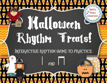 Halloween Rhythm Treats! Interactive Rhythm Game - Practice Ta/ti-ti