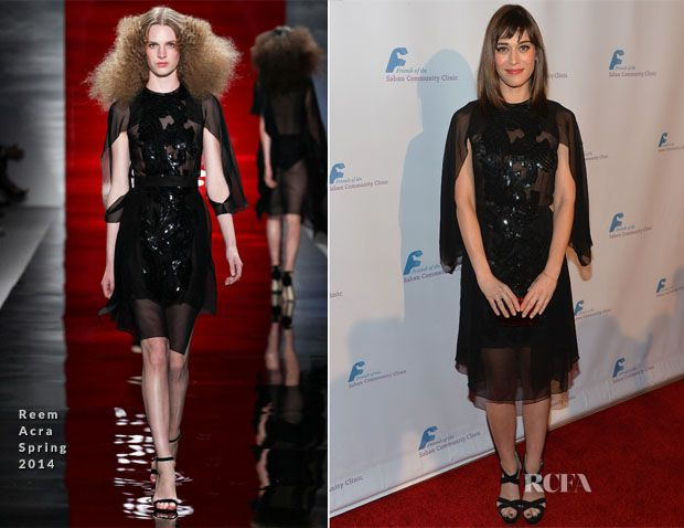 Lizzy Caplan In Reem Acra – Saban Community Clinic 37th Annual Benefit Gala