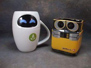 Disney/Pixar WALL-E & EVE Ceramic Mugs