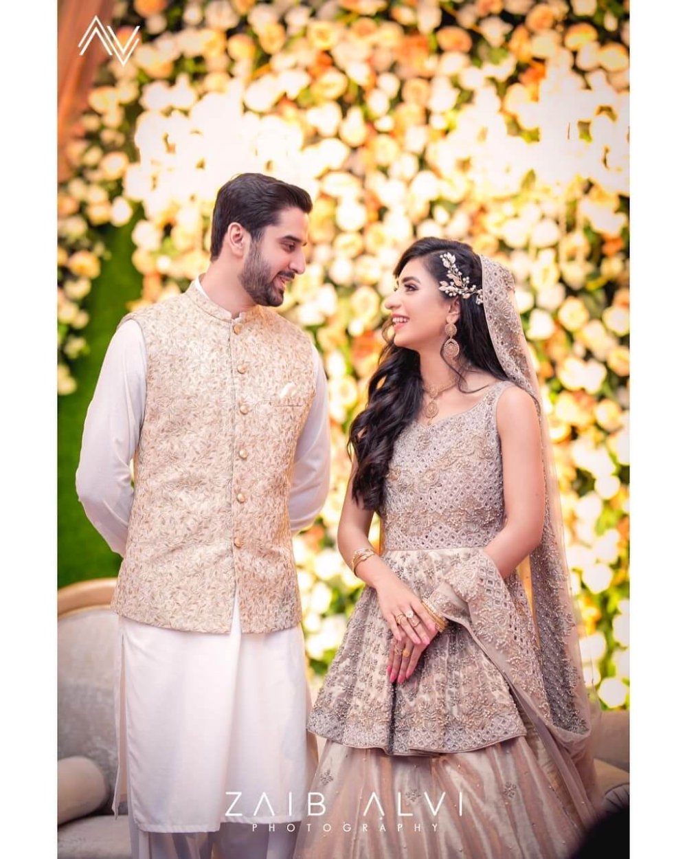 Unique Color Coordinated Pakistani Couples To Take Inspirations From Couple Wedding Dress Pakistani Wedding Dresses Engagement Dress For Groom [ 1250 x 1000 Pixel ]