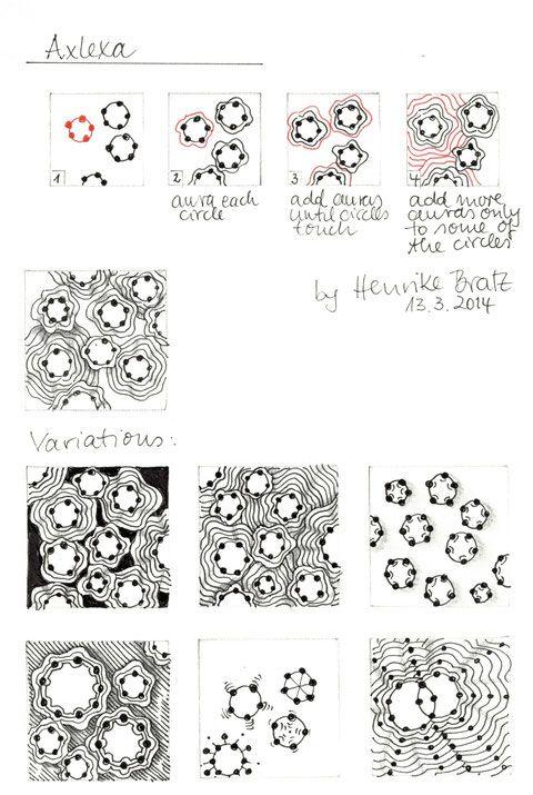 tangle pattern axlexa zentangle und anleitungen. Black Bedroom Furniture Sets. Home Design Ideas