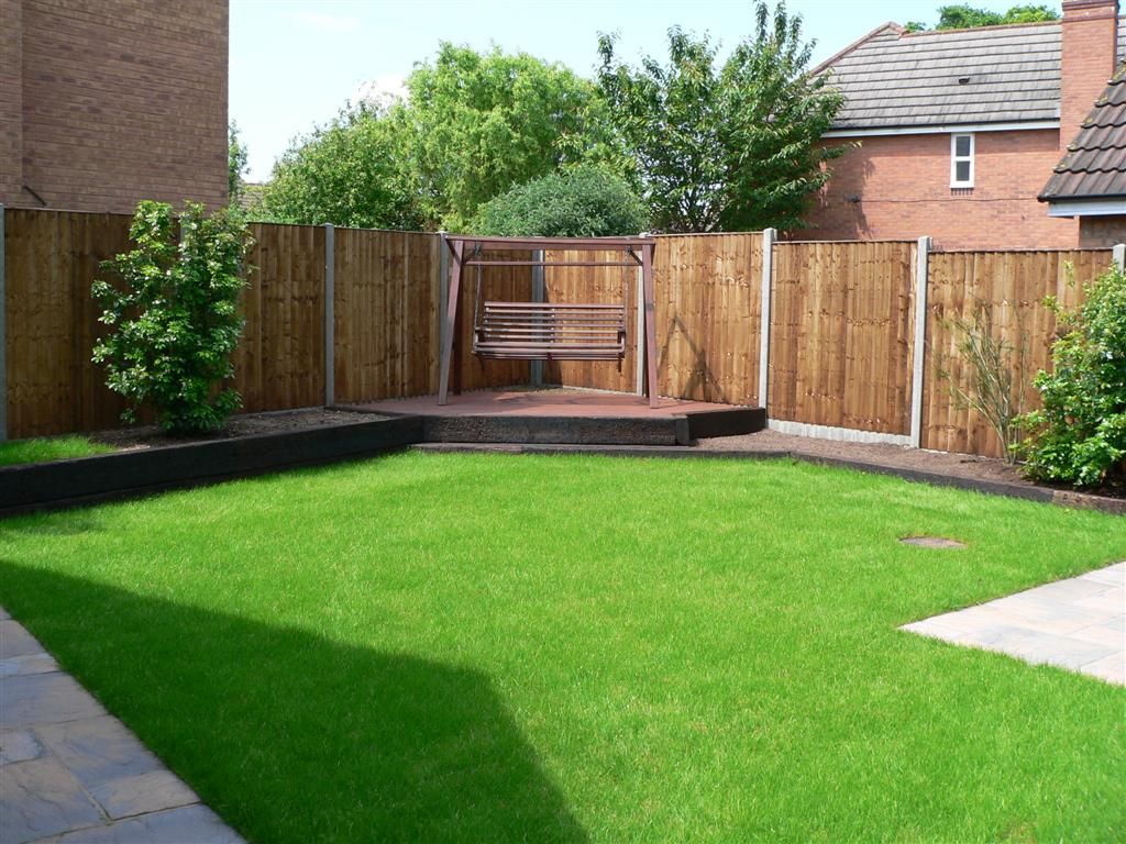 Small garden ideas google search for the home for Garden decking and grass