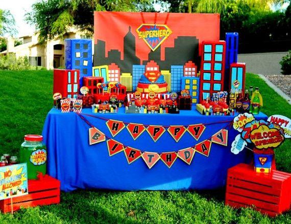 Comic Hero Party City Scape Hero Birthday Hero Super Superhero Party Comic Party Superhero Birthday
