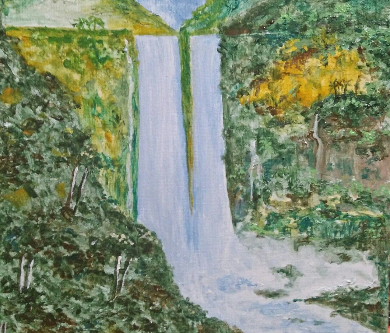 Maria Cristina Falls Painting Art Fall