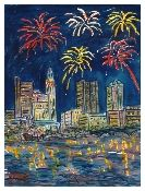 2015 Columbus Winter Avant-Garde Art & Craft Show Vendor- Ohio Art Work- Columbus Celebrates the 4th of July