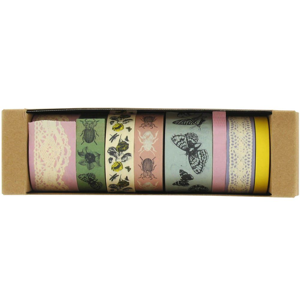 secret garden paper tapes - pack of 8 from Paperchase