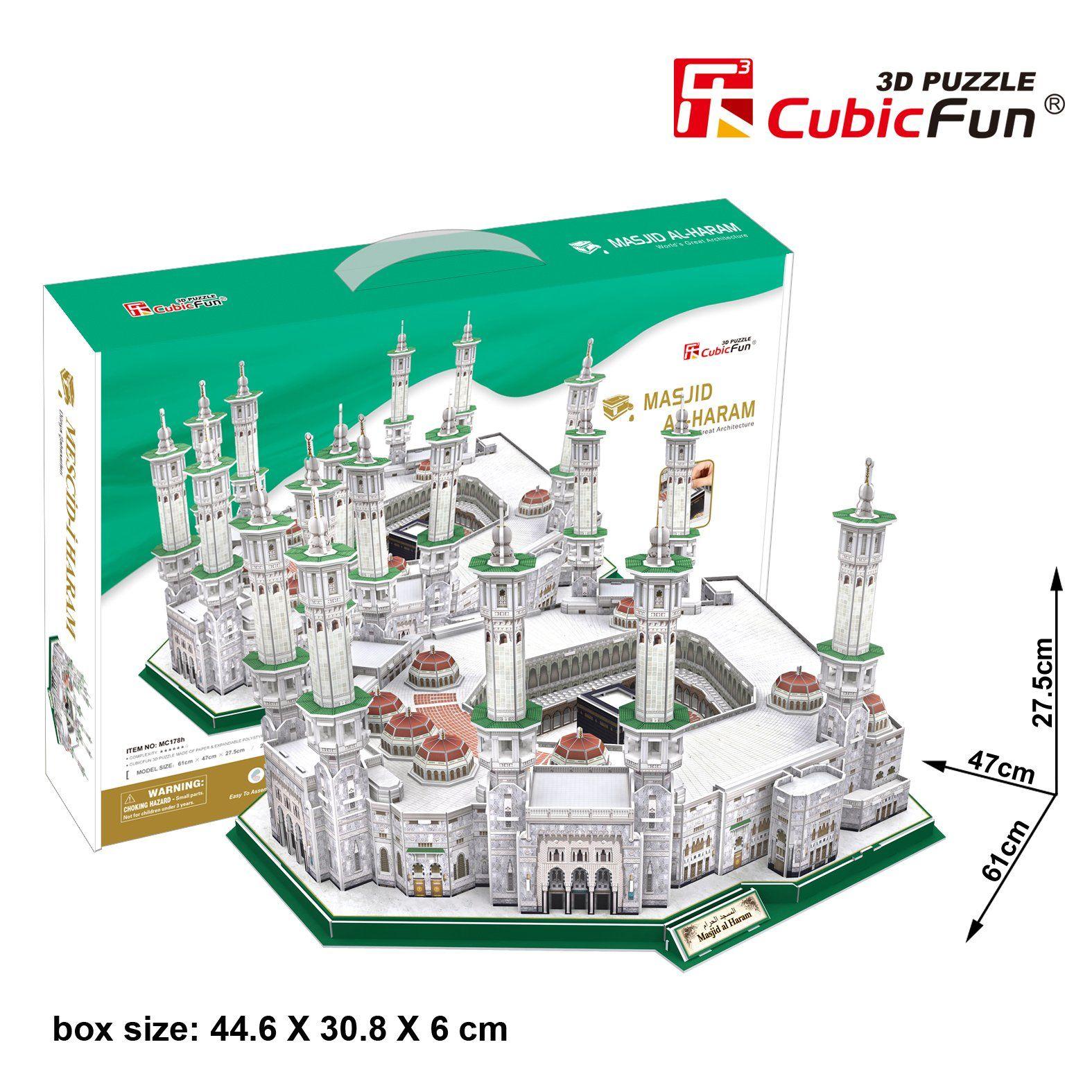 Cubic Fun 3d Puzzle Masjid Al Haram Moschee Mekka Saudi Arabien Groß Amazon De Spielzeug Moschee Arabien Saudi Arabien