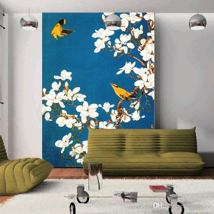 Custom Vintage Wallpaper Flower U0026 Birds Wall Mural Chinese Style Photo  Wallpaper Home Decor Wall Art