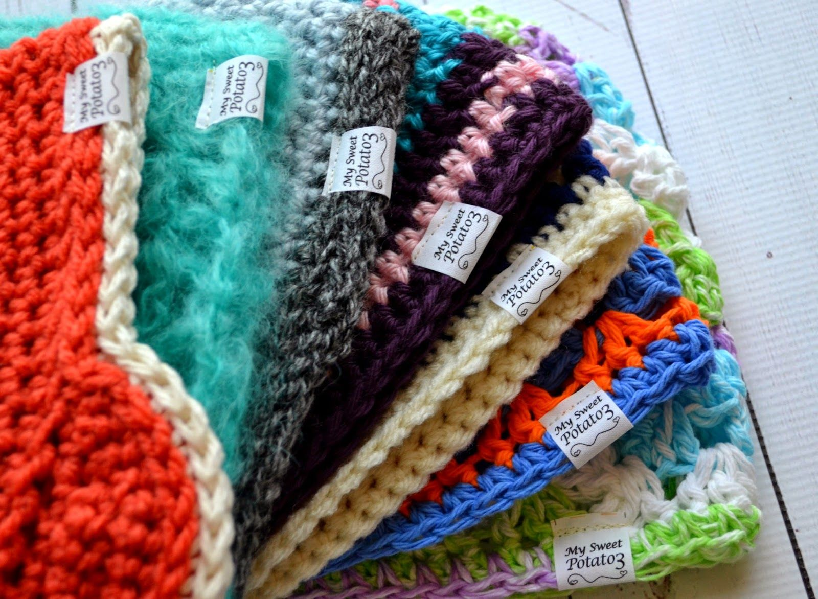 Knitting Items To Sell : My sweet potato labeling your crochet goods sale on
