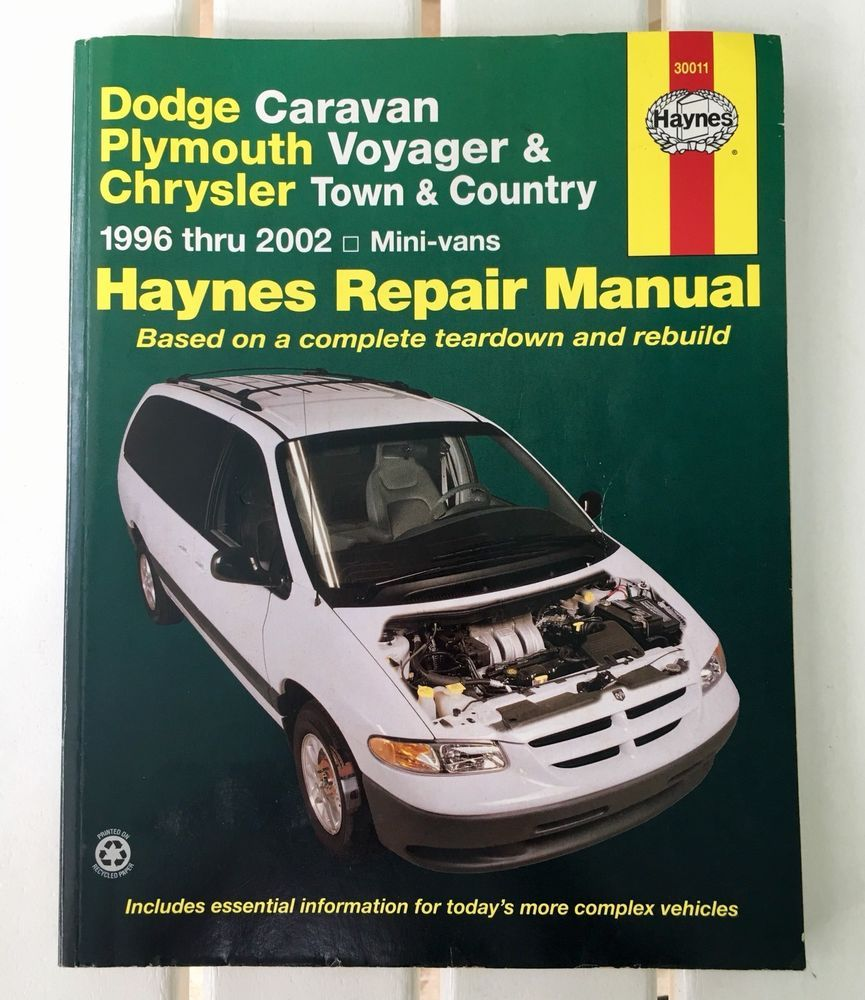 Haynes Repair Manual Dodge Caravan Plymouth Voyager Chrysler 96 - 02 Mini  Vans | eBay