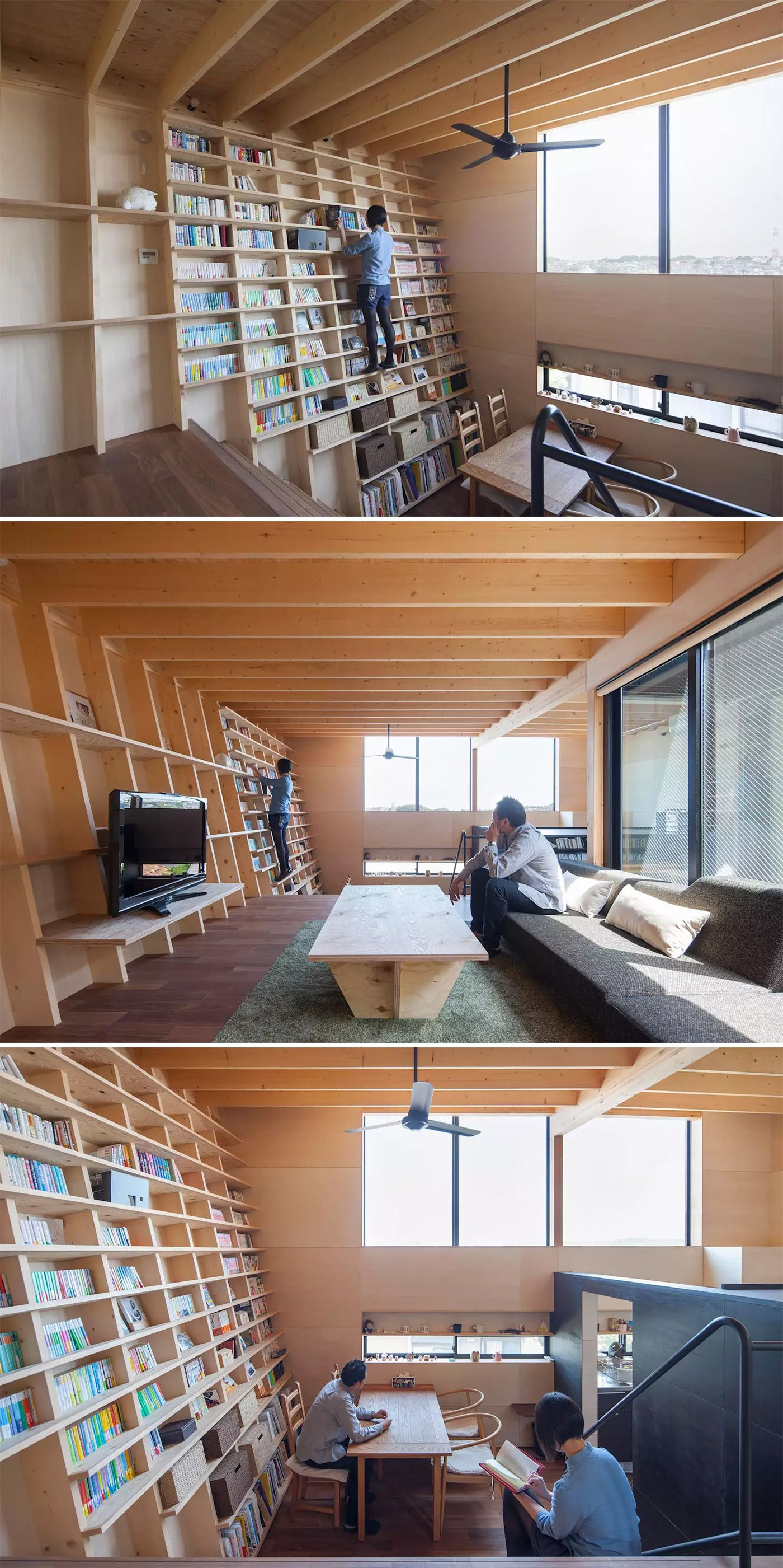 A Japanese Home Designed Around A Climbable Earthquake